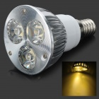 E14 3W 260-Lumen 3200K 3-LED Warm White Light Bulb Lamp (85 ~ 265V)