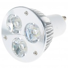 GU10 3W 270-Lumen 6500K 3-LED White Light Lamp Bulb (85~265V)