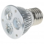 E27 3W 260-Lumen 3200K 3-LED Warm White Light Bulb Lamp (85 ~ 265V)