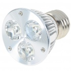 E27 3W 270-Lumen 6500K 3-LED White Light Lamp Bulb (85~265V)