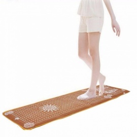 Tourmaline Blanket Mat Foot Massage Pad Shortfalls Energy Cushion Chinese Reflexology Walk Stone Relieve Leg Massager