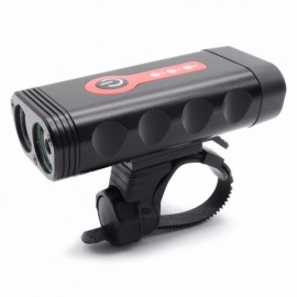 Multifunctional Mountain Bike Light USB Charging Bad Flashing Horn Two Lights New LED Riding Flashlight Black