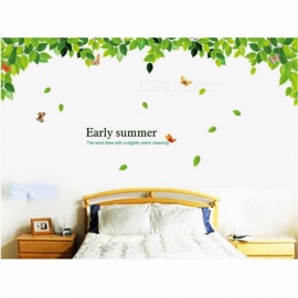 Fresh Green Leaves Stickers Decorative Creative Removable Wall Art Sticker Home Decor Multi