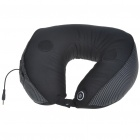 U-Style Neck Massage Pillow Cushion with MP3 Connector Speaker - Black (3.5mm Jack/2*AA)