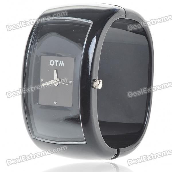 Stylish Plastic Bracelet Band Wrist Watch - Black (1*377)