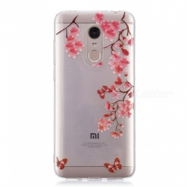 ESAMACT High-Quality Flower Pattern TPU Case / Back Cover for Xiaomi Red Mi 5Plus
