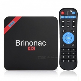 Brinonac BN8 Android 7.1 4K Smart TV Box w/ 2GB RAM, 8GB ROM - Black (US Plug)