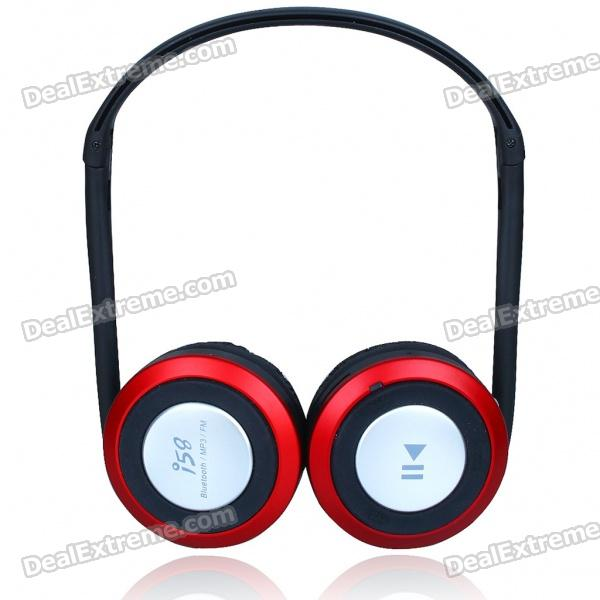 i58 Sport MP3 Player + Bluetooth V2.0 Stereo Headset + FM Radio w/ TF Slot - Black + Silver + Red