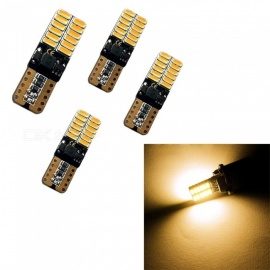 HONSCO 4pcs Car Styling Car Auto LED T10 194 W5W 24 SMD 4014LED Light Parking LED Car Side Lights 12V