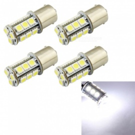 HONSCO 4PCS 1156 BA15S P21W 18SMD 5050 LED Car Tail Bulb Brake Lights DC12V 3W White Light