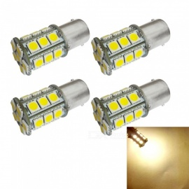 HONSCO 4PCS 1156 BA15S P21W 24SMD  5050 LED Car Tail Bulb Brake Lights DC12V 3W Warm White Light