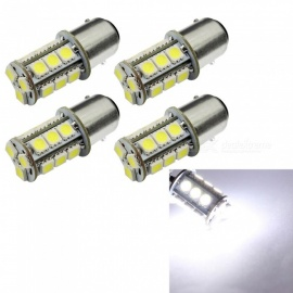 HONSCO 4PCS 1142 BA15D 18SMD 5050 Tail Turn Signal lamp White Rear Brake Lights DC12V 3W