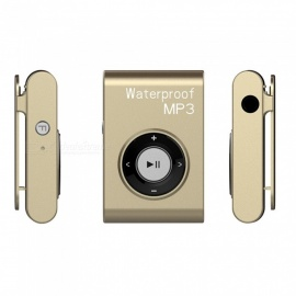 KELIMA Portable Sports Waterproof Lossless Player 8GB MP3 Player with Clip - Gold