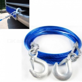 OJADE Car Towing Rope Steel Wire Traction Rope Emergency Equippment with 5 Tons Pull Rope Steel Wire With Hooks