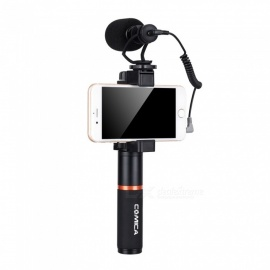 ESAMACT Smartphone Video Rig with Cardioid Directional Shotgun Video Microphone, Shock-Mount Grip Handle for IPHONE