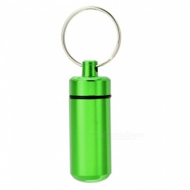 XSUNI Outdoor Pill Tablet Storage Case with Keyring - Green