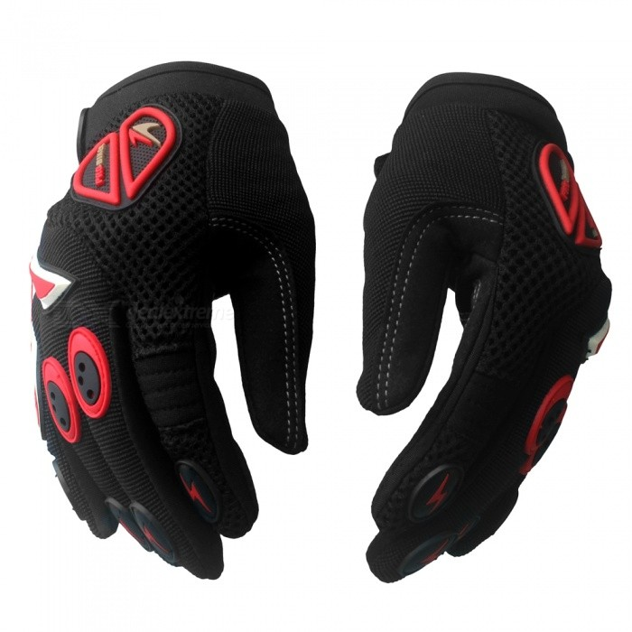 PRO-BIKER Skid-Proof Full Finger Motorcycle Racing Gloves - Black (Pair / XL-Size)