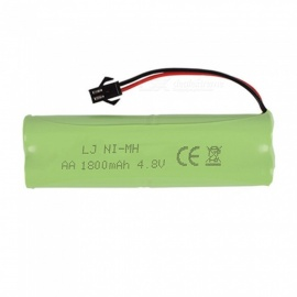1 PCS 4.8V 1800mAh Li-ion battery Rechargable Ni-MH AA*4 battery group modle H for RC cars-Green