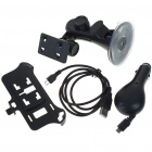 Car Mount Holder + USB Charging/Data Cable + Car Charger Set for Nokia C7 - Black