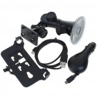 Car Mount Holder + USB Charging/Data Cable + Car Charger Set for Sony Ericsson X10 - Black