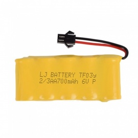 6V 700mAh Li-ion Rechargable Ni-CD AA*5 Model Short M Battery Group for RC Cars - Yellow