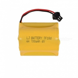 6V 700mAh Li-ion Rechargable Ni-CD AA*5 Model T Battery for RC Cars - Yellow