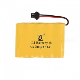 6V 700mAh Li-ion Rechargable Ni-CD AA*5 Model M Battery for RC Cars - Yellow