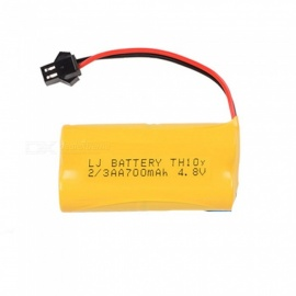 4.8V 700mAh Li-ion Rechargable Ni-CD AA*4 Model Short H Battery for RC Cars - Yellow