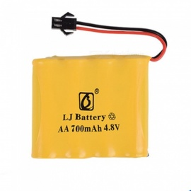 4.8V 700mAh Li-ion Rechargable Ni-CD AA*4 Model M Battery for RC Cars - Yellow