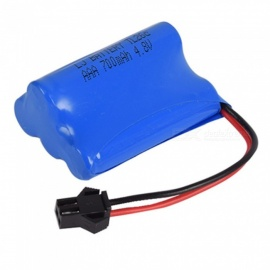 4.8V 700mAh Li-ion Rechargable Ni-CD AAA*4 Model T Battery for RC Cars - Blue
