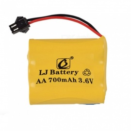 3.6V 700mAh Li-ion Rechargable Ni-CD AA*3 Model M Battery for RC Cars - Yellow