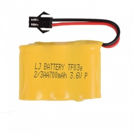 3.6V 700mAh Li-ion Rechargable Ni-CD AA*3 Model Short M Battery for RC Cars - Yellow