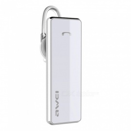 AWEI A850BL Bluetooth Headphone, Wireless Earphone Cordless Headset with Microphone - White