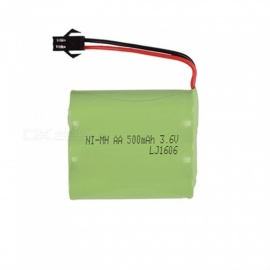 3.6V 500mAh Li-ion Rechargable Ni-MH AA*3 Model M Battery for RC Cars - Green