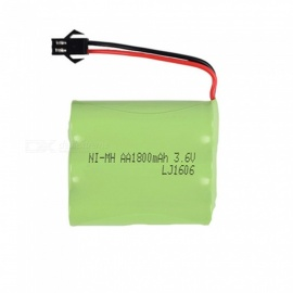 3.6V 1800mAh Li-ion Rechargable Ni-MH AA*3 Model M Battery for RC Cars - Green