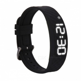DMDG Smart Bracelet Fitness Tracker with Sports Monitoring, Vibration Alarm Clock Reminder, 48 Days Standby - Black
