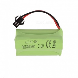 3.6V 1800mAh Li-ion Rechargable Ni-MH AA*3 Model Triangle Battery for RC Cars - Green