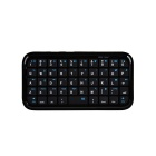 49-Key Mini Rechargeable Bluetooth Wireless QWERTY Keyboard - Black