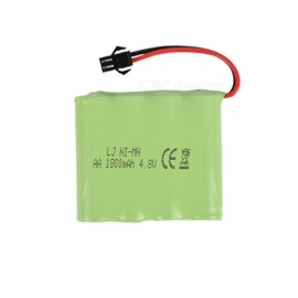 4.8V 1800mAh Li-ion Rechargable Ni-MH AA*4 Model M Battery for RC Cars - Green