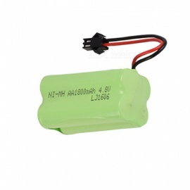 4.8V 1800mAh Li-ion Rechargable Ni-MH AA*4 Model X Battery for RC Cars - Green