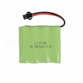 4.8V 2800mAh Li-ion Rechargable Ni-MH AA*4 Model M Battery for RC Cars - Green