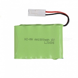 6V 1800mAh Li-ion Rechargable Ni-MH AA*5 Model M Battery for RC Cars - Green