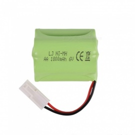 6V 1800mAh Li-ion Rechargable Ni-MH AA*5 Model T Battery for RC Cars - Green