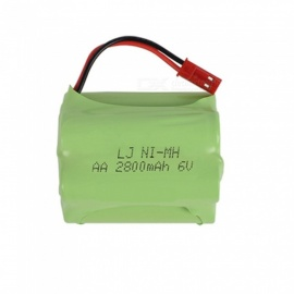 6V 2800mAh Li-ion JST Rechargable Ni-MH AA*5 Model T Battery for RC Cars - Green