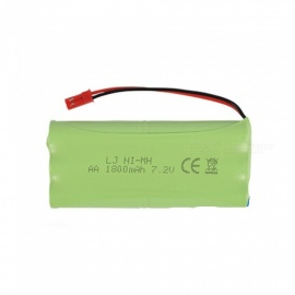 7.2V 1800mAh Li-ion JST Rechargable Ni-MH AA*6 Model H Battery for RC Cars - Green