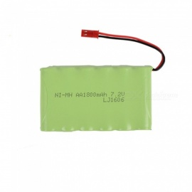 7.2V 1800mAh Li-ion JST Rechargable Ni-MH AA*6 Model M Battery for RC Cars - Green