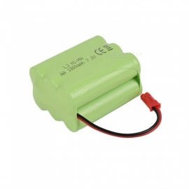 7.2V 1800mAh Li-ion JST Rechargable Ni-MH AA*6 Model X Battery for RC Cars - Green