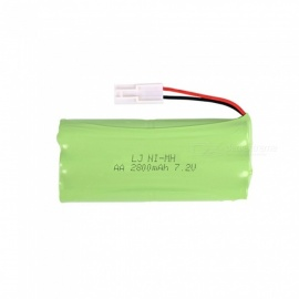 7.2V 2800mAh Li-ion EL-2P Rechargable Ni-MH AA*6 Model H Battery for RC Cars - Green