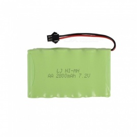 7.2V 2800mAh Li-ion SM-2P Rechargable Ni-MH AA*6 Model M Battery for RC Cars - Green