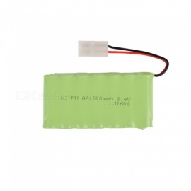 8.4V 2800mAh Li-ion L6.2-2P Rechargable Ni-MH AA*7 Model M Battery for RC Cars - Green